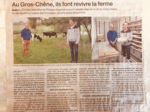 Article Le gros chêne - Ouest France Rennes 2020